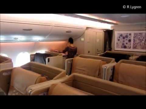 Singapore Airlines A380 800 Business class report, Frankfurt Singapore Tokyo