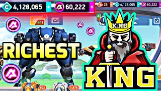KSO Mech Arena 🤩 Finally RICHEST 4 MILLIONS Credits A-Coins