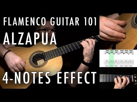 Flamenco Guitar 101 - 33 - Alzapua 4 Notes Effect