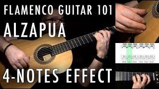 Flamenco Guitar 101 - 33 - Alzapua 4 Notes Effect