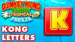 Donkey Kong Country: Tropical Freeze - All KONG Letters! 100%!