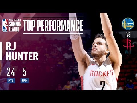 RJ Hunter Puts Up 24 Points Against The Dubs In The 2018 MGM Resorts Summer League