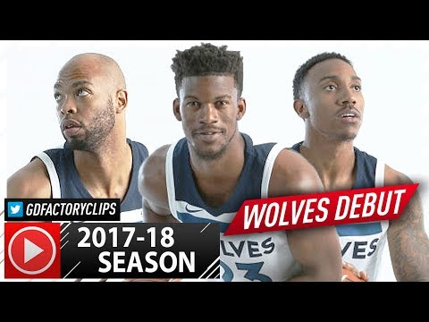 Jimmy Butler, Jeff Teague & Taj Gibson Wolves Debut Highlights vs Lakers (2017.09.30) - SICK