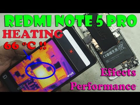 👿66℃ Hot Redmi Note 5 Pro: Heating Fast and High🔥Temperature Effect Performance📲