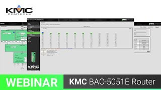 Webinar: KMC Conquest BAC-5051E Router | 8.31.18