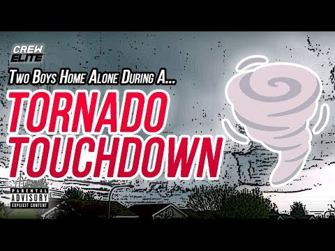 Two Boys Home Alone During A Tornado TouchDown In Omaha Ne | 1 Hour Vlog | 4-27-16 | RAW (Bad Words)
