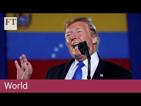 Trump urges Venezuela military to support opposition leader Juan Guaidó