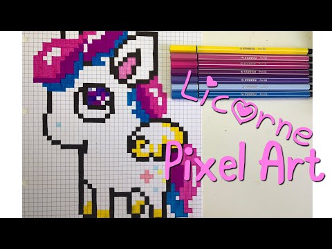 Pixel Art Pas à Pas Licorne Kawaii Youtube
