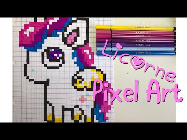 Pixel Art Pas à Pas Licorne Kawaii Youtube