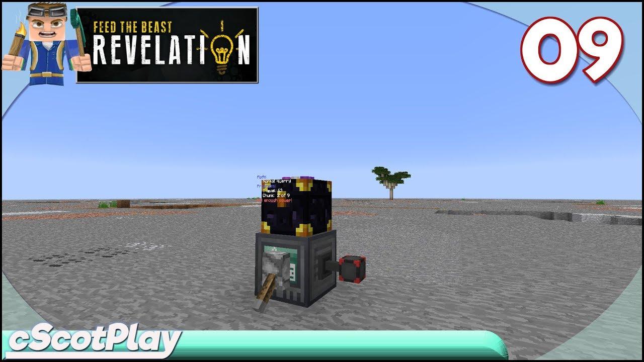 FTB Revelation w/ cScot : Ep 09 – Quarry System w/ RFTools Builder