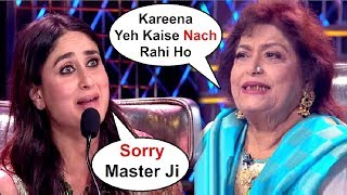 Kareena Kapoor Scolded By Saroj Khan For Not Dancing Properly At Dance India Dance 7