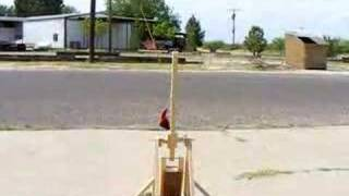 Trebuchet Model Launches Rock 50 Feet