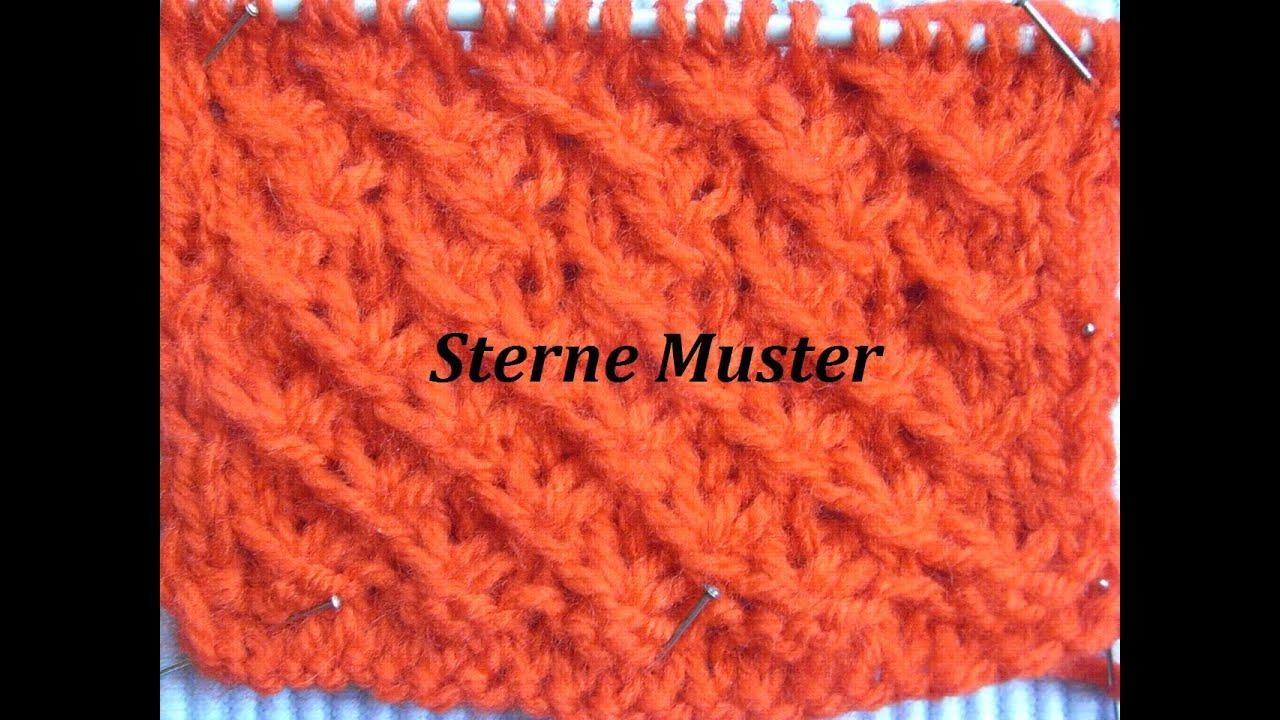 Stern Muster*Muster Stricken*Bündchenmuster*Tutorial Handarbeit ...