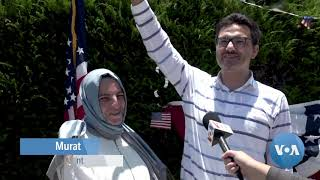 New US Citizens Sworn In at Los Angeles Drive Through
