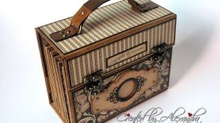 Graphic 45 Craft Reflections Suitcase Vintage Style Mini Album