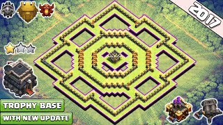 New ! Town Hall 9 (TH9) Best TROPHY Pushing/HYBRID Base 2017 With Gear Up | Anti 2 Star TH9 Base