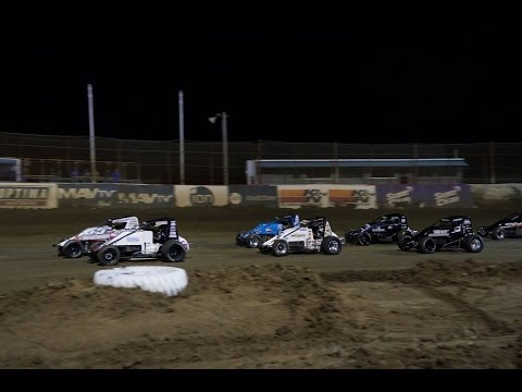 USAC National Sprint Cars at East Bay Raceway Park, February 2015