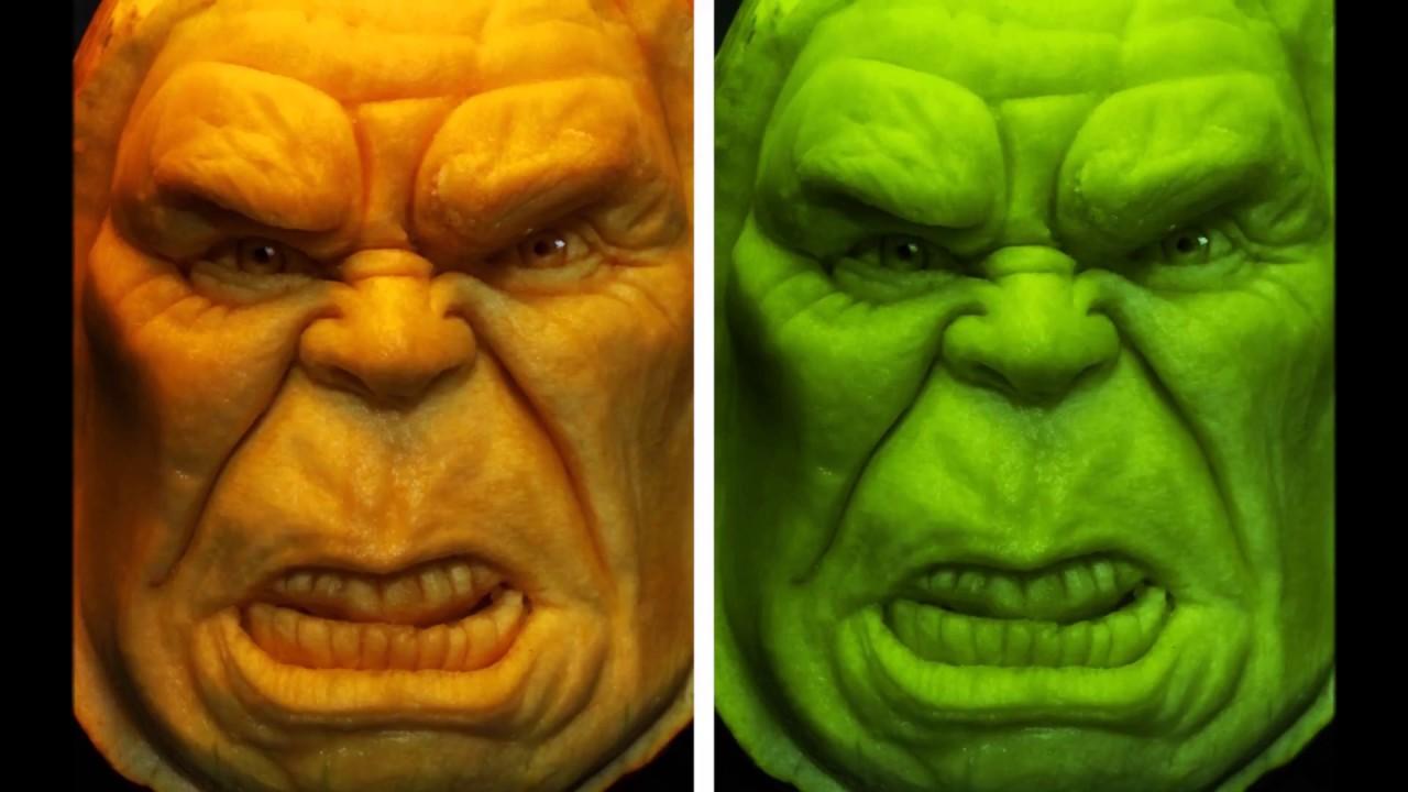 The incredible hulk 3d pumpkin carving time lapse youtube the incredible hulk 3d pumpkin carving time lapse maxwellsz