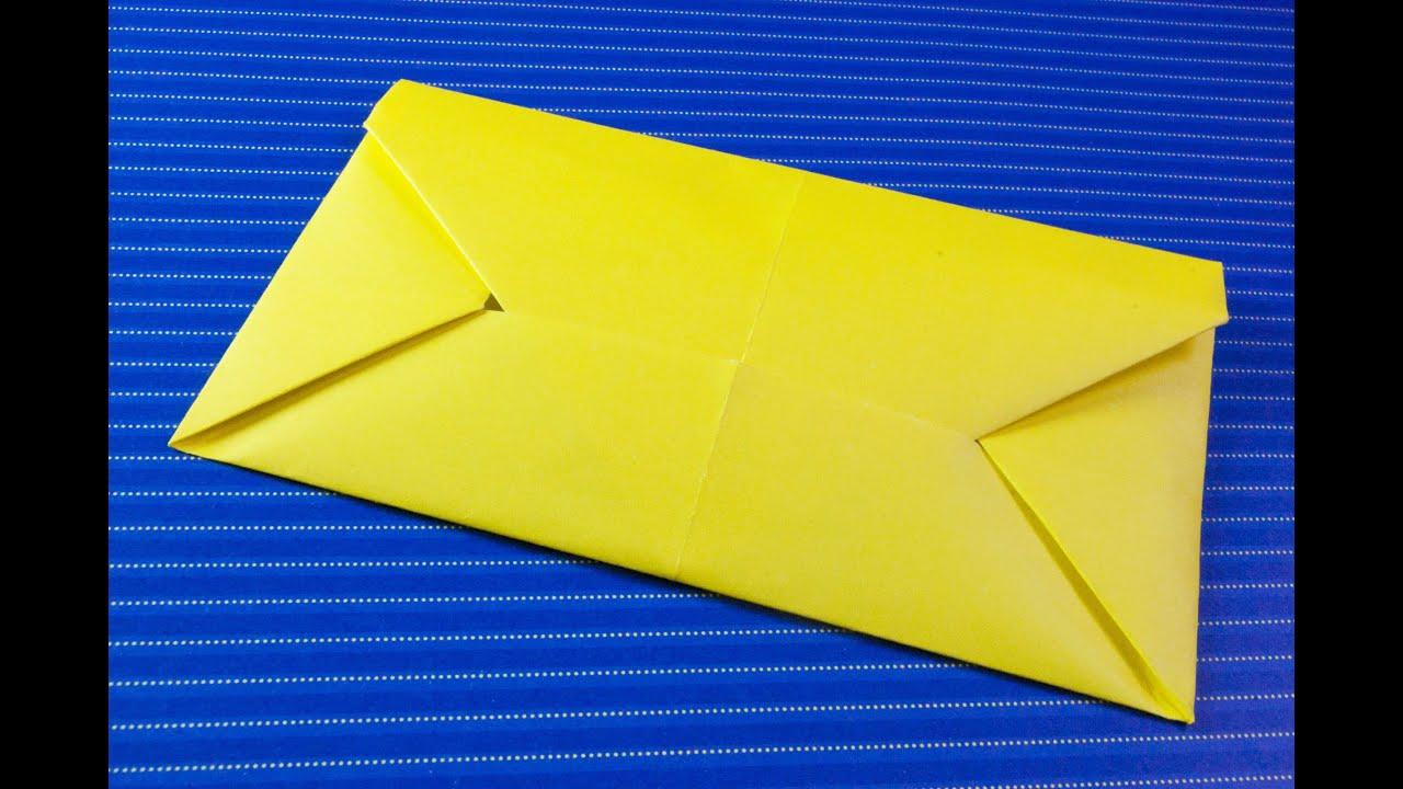Como hacer un sobre para cartas origami papiroflexia for Como hacer un sobre rectangular