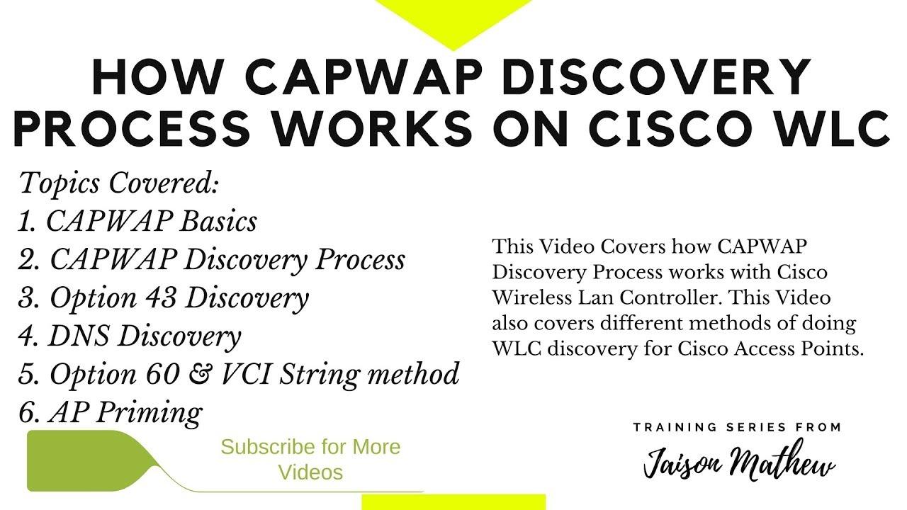 How CAPWAP Discovery Process Works on Cisco WLC