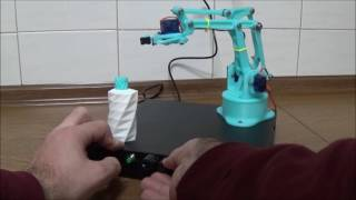 Arduino Robotic arm with crab - 3D printed - with