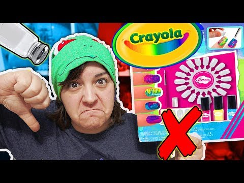 DON'T BUY! 21 REASONS WHY CRAYOLA NAIL MARBLING CRAFT Kit Is NOT Worth It SaltEcrafter #49