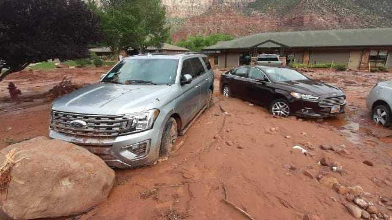 Flash flooding causes chaos to visitors at Zion National Park