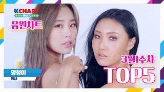 03월 1주차 K-POP TOP5 음원차트 순위
