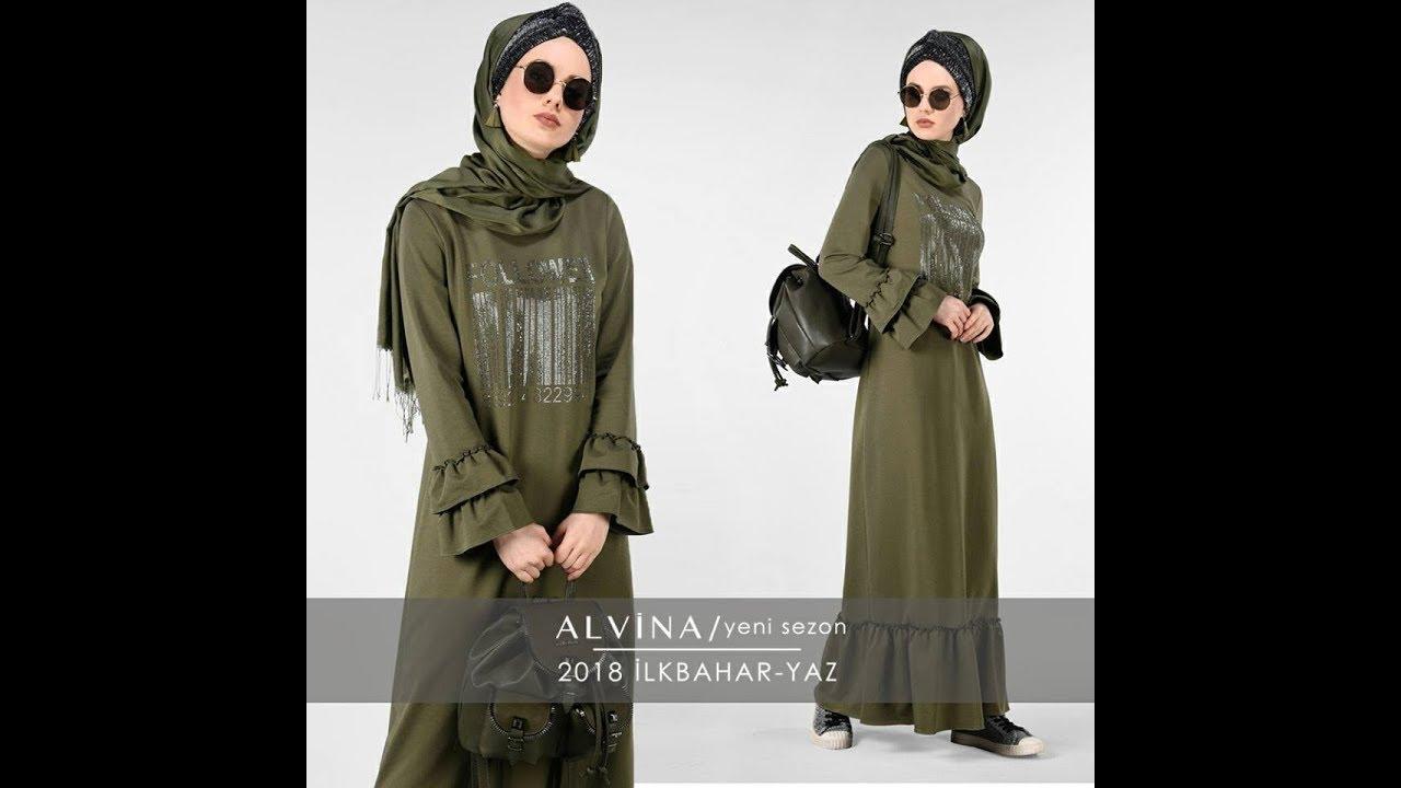 de7bc5d554149 Alvina 2018 İlkbahar Yaz Tesettür Giyim Koleksiyonu - YouTube