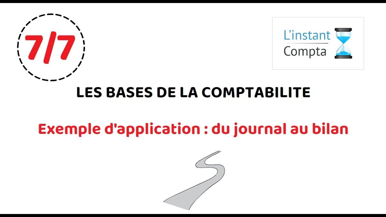 Exemple d'application : journal, grand livre, balance ...