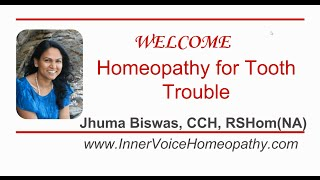 Homeopathy Tooth Trouble
