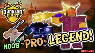 The Tale of NOOB to PRO (to LEGENDARY!) ⚔ A Roblox Adventure EP.1 🛡 Level 75 Dungeon Quest Roblox