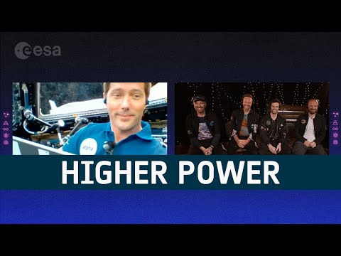 Higher Power in space   Thomas Pesquet & Coldplay