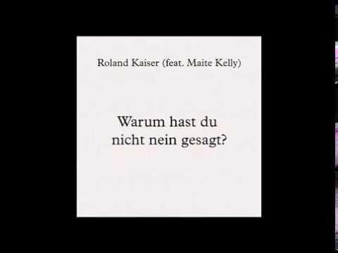 """Noten & Lyrics zu """"Roland Kaiser - Warum hast du nicht nein gesagt (feat. Maite Kelly)"""""""