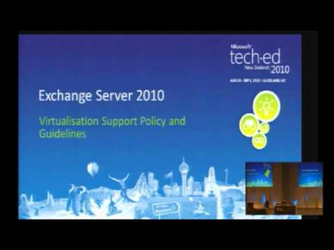 Tech·Ed New Zealand 2010 Exchange 2010 Virtualisation