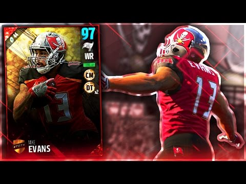 TOTY MIKE EVANS IS UNSTOPPABLE! Madden 17 Ultimate Team - 동영상