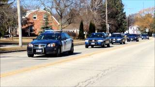 Wisconsin State Trooper Trevor Casper Funeral Procession