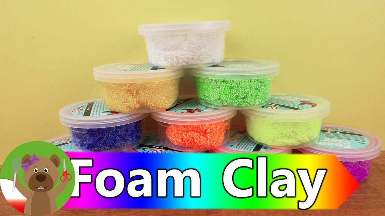 10 kolorów Foam Clay | jaki kolor powstanie z takiej mieszanki | mieszanie kolorów