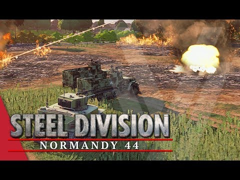 Futile Factory Fight! Steel Division: Normandy 44 Gameplay (Collombelles, 3v3)