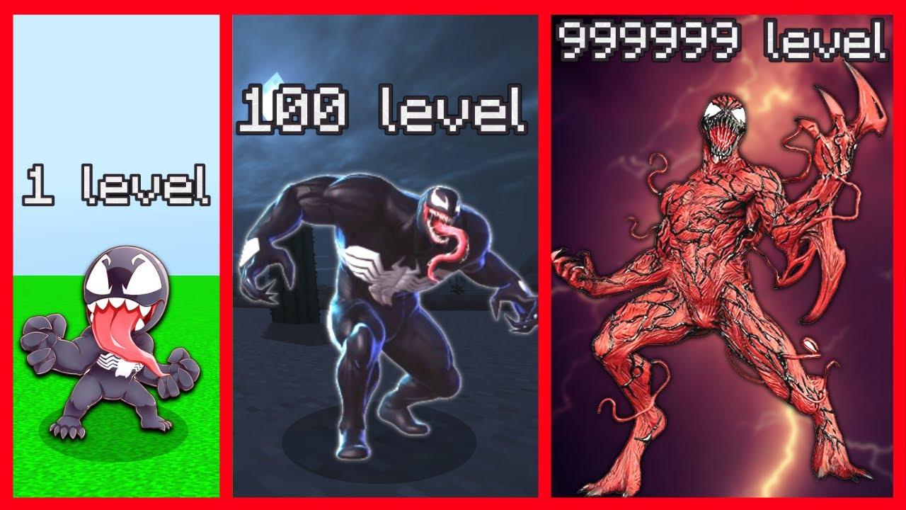 1 LEVEL, 100 LEVEL, 999999 LEVEL VENOM İLE DÖVÜŞÜRSEN ÖLÜRSÜN! 😱 - Minecraft