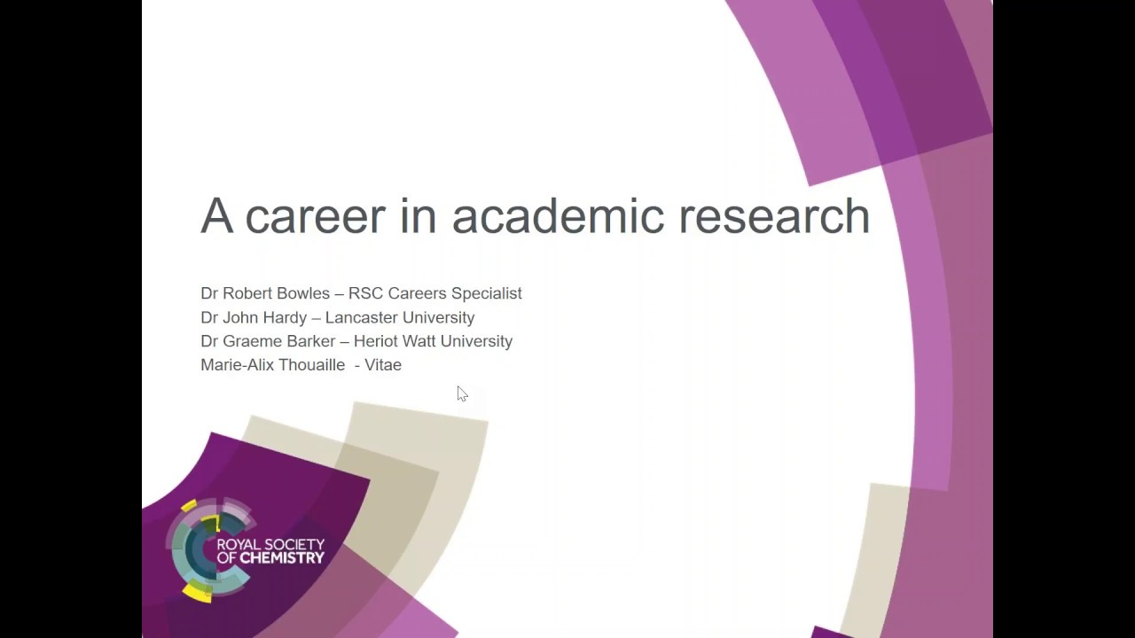 ChemCareers 2017 A career in Academic Research