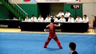 Korea Wushu 2012 삼천포 - Kim Tae Ho - Nandao