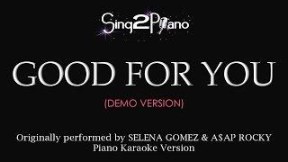 vuclip Good For You (No rap - Piano karaoke demo) Selena Gomez