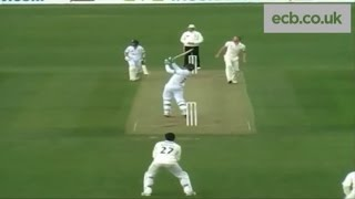 Martin Guptill smashing sixes during double century for Derbyshire