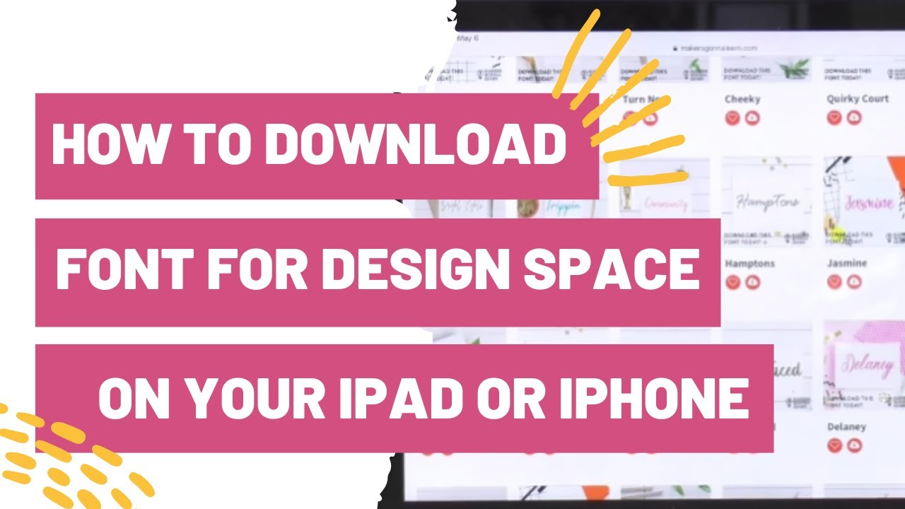 how to download a font for cricut design space on your