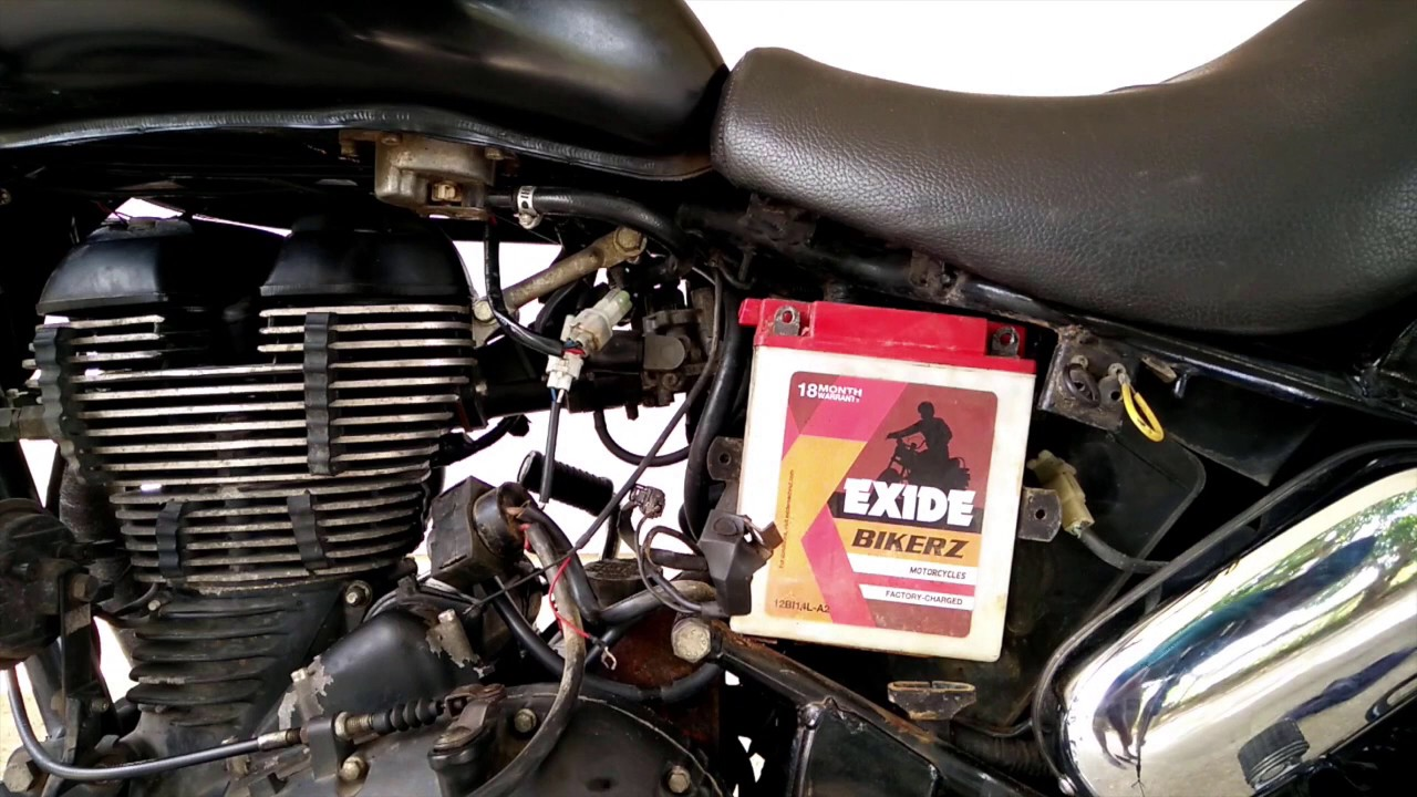 Royal Enfield Thunderbird Removing And Fixing The Battery Youtube Yares Terminal Fuse