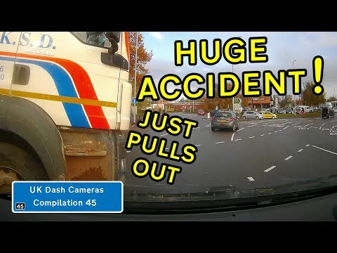 UK Dash Cameras - Compilation 45 - 2019 Bad Drivers, Crashes + Close Calls