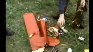 Old Model Airplane Action Clips