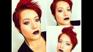 Black with a hint of Purple Makeup Tutorial Thumbnail