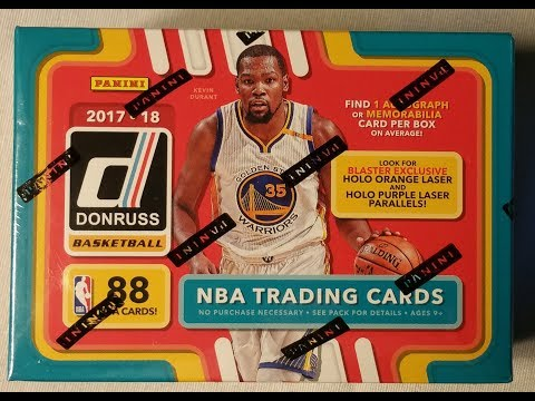 2018 Panini Donruss NBA Basketball trading cards. 1 autograph or mem.